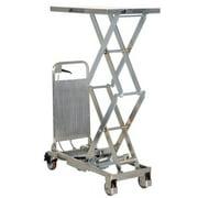 """VESTIL CART-200-D-PSS Scissor Lift Table, 220 lb. Cap, 17-1/2""""W, 27-1/2""""L"""