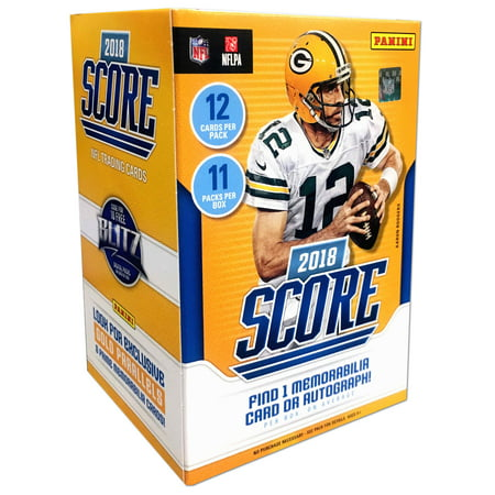 2018 Panini Score Football: NPP Blaster Box (92167) - 11 packs of 12 -