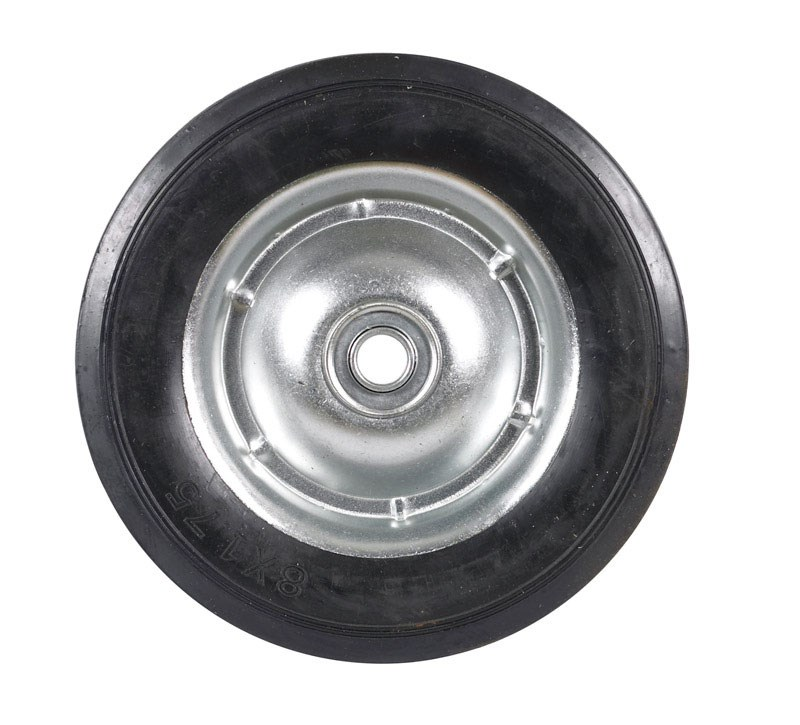 """Apex Replacement Wheel For Hand Truck 8"""" X 1-3 4"""" Solid Rubber by Ace Trading - Hand Truck Apex"""