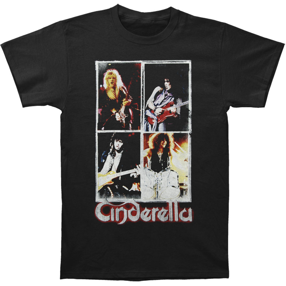 Cinderella Men's  25 Years Of American Rock N Roll T-shirt Black