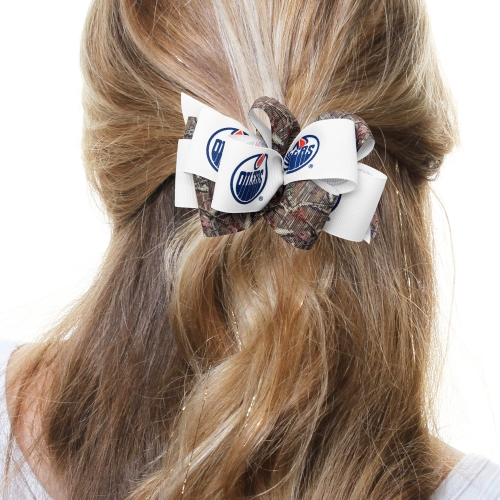 Edmonton Oilers Women's Mary Loop with Mossy Oak Hair Bow - No Size