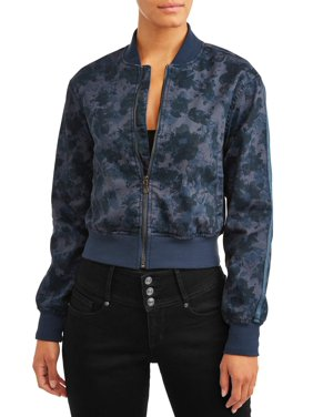 Sofia Jeans Vanesa Knit Bomber Jacket Women's (Floral Camo)