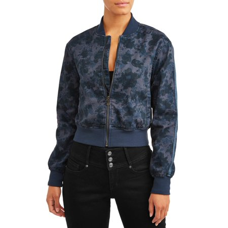 Sofia Jeans Vanesa Knit Bomber Jacket Women's (Floral Camo)
