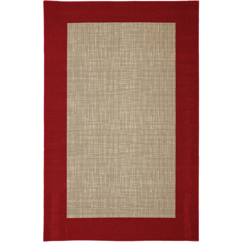 Exceptional Mainstays Indoor/Outdoor Rug, Red Border