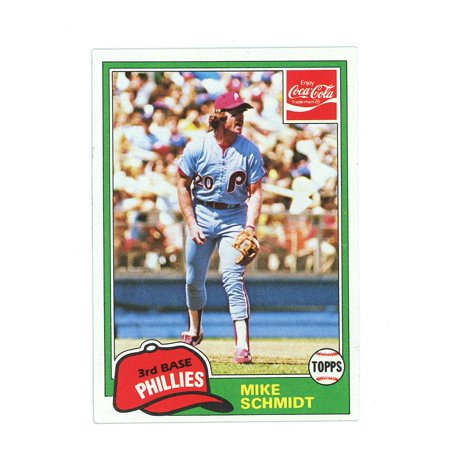 1981 Topps Coca Cola Coke #9 Mike Schmidt Phillies Oddball Issue Card 1981 Topps Baseball Checklist