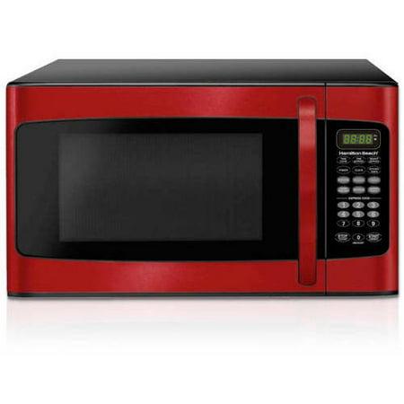 Hamilton Beach 1 1 Cu Ft Microwave Red Walmart Com