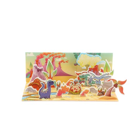 3D Paper Board Puzzle Early Learning Construction Assemble Toy Children Gift