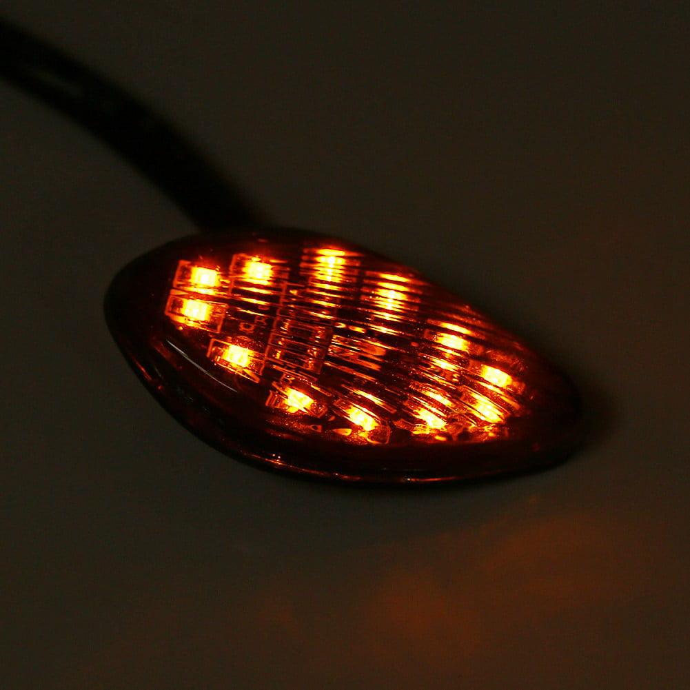 Eye Shape Flush Front Rear Turn Signal Light Assembly for Honda Grom 2014-2016 1 Pair Motorcycle Amber LED Turn Signals Light Kit