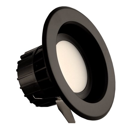 NICOR Lighting 4-Inch Dimmable 5000K LED Remodel Downlight Retrofit Kit for Recessed Housings, Black Trim