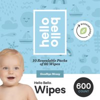 Hello Bello Baby Wipes, Unscented (Choose Your Count)