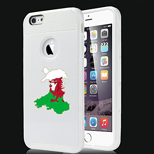 Apple iPhone 5 5s Shockproof Impact Hard Case Cover Wales Welsh Flag (White),MIP