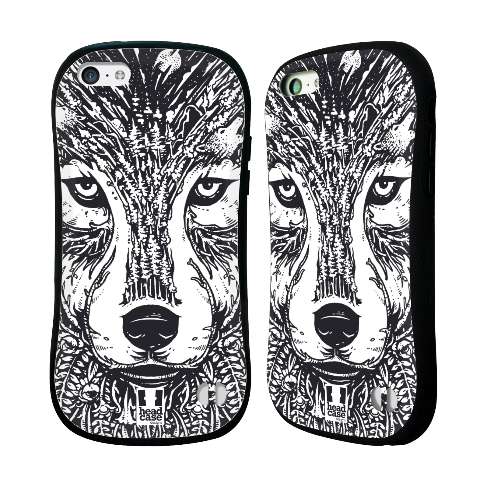 HEAD CASE DESIGNS DOODLE ANIMAL FACES HYBRID CASE FOR APPLE IPHONES PHONES