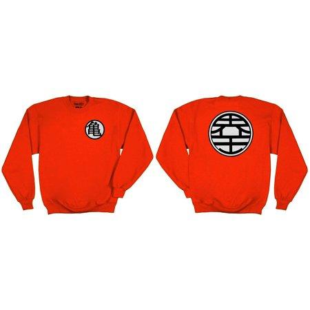 Dragonball Z Kame Symbol Adult Orange Crewneck Sweatshirt Walmart