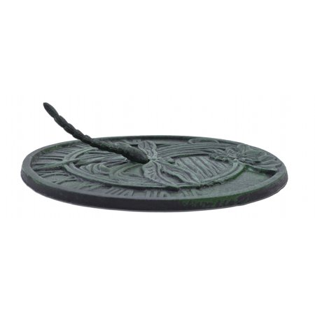 "Decorative Dragonfly Garden Sundial - Green - 9.75"" Wide"