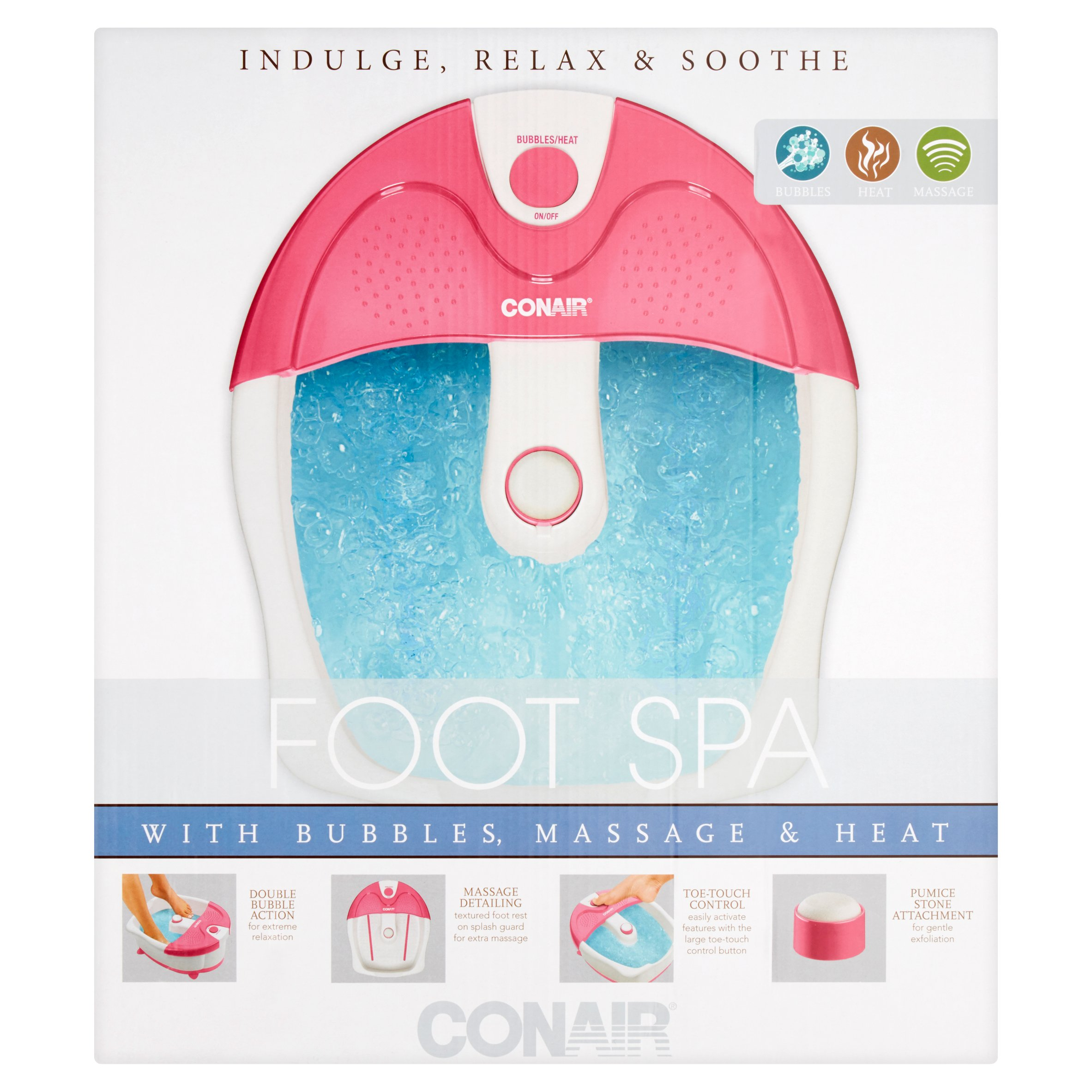 Conair Foots Spa with Bubbles, Massage & Heat