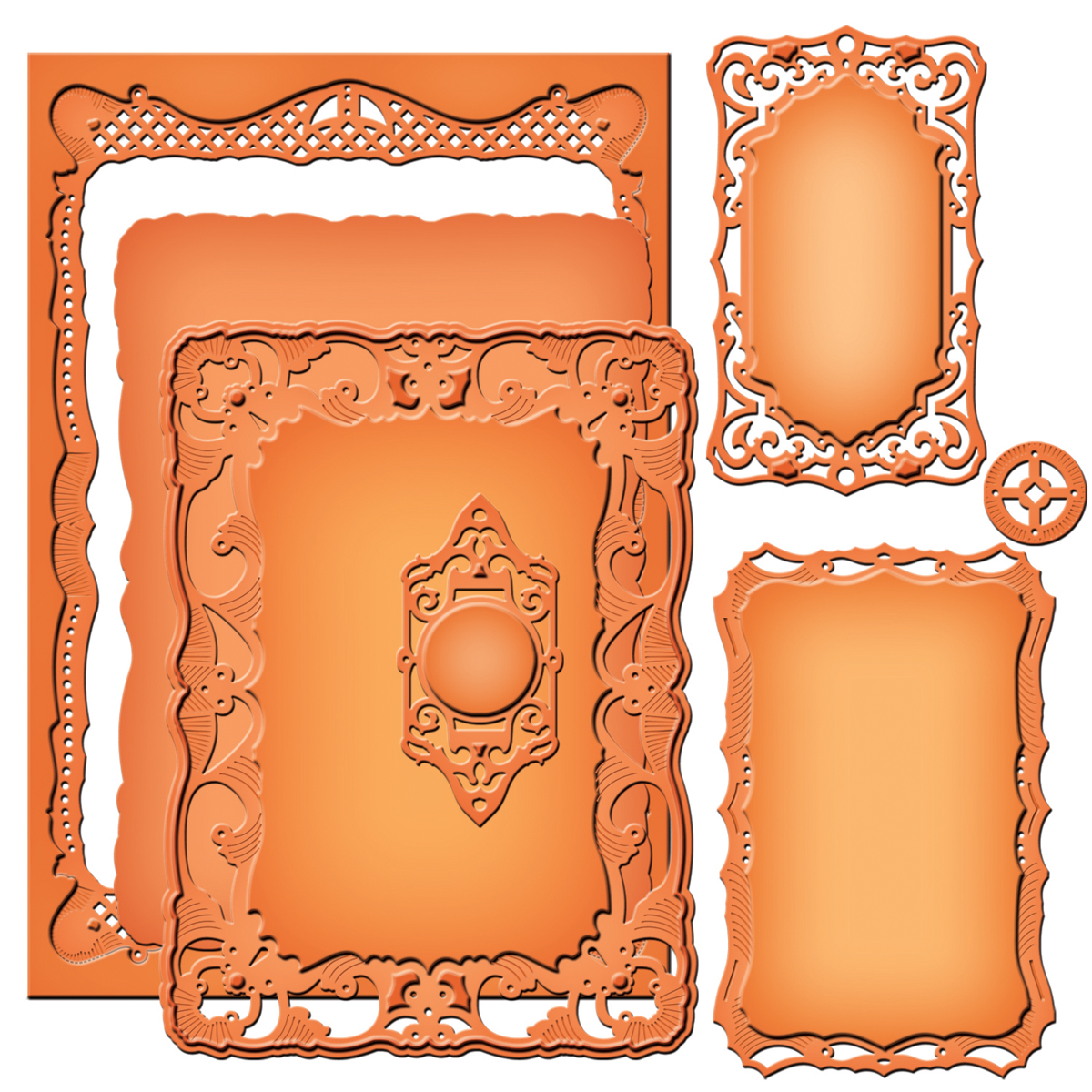 Spellbinders Nestabilities Majestic Elements Dies-Nobel Rectangles