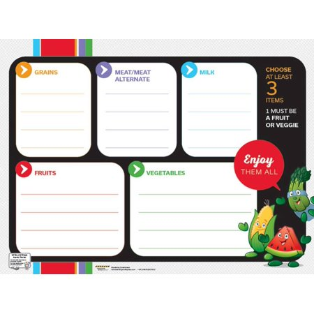Learning Zone Poster - Garden Heroes® Lunch Tray Dry Erase Menu Poster Laminated Poster - 24x18