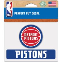 WinCraft Detroit Pistons 4'' x 5'' Perfect Cut Decal