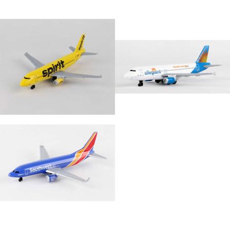 Spirit  Allegiant  Southwest Airlines Diecast Airplane Package   Three 5 5   Diecast Model Planes