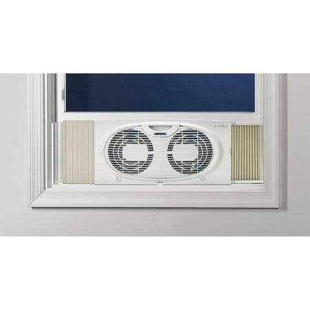 Lasko TWIN WINDOW Fan with Manual Intake & Exhaust Positions Or For Table Or Floor (Pc Case Side Fan Intake Or Exhaust)