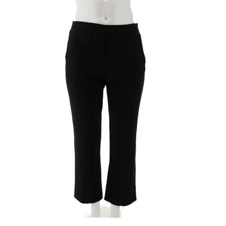 Bob Mackie Petite Cotton Modal Pull-On Pants A341825