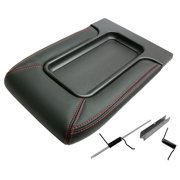 IPCW BB104 Chevrolet Avalanche 2002 - 2005 Front Center Console Lid Black With Red Stitching