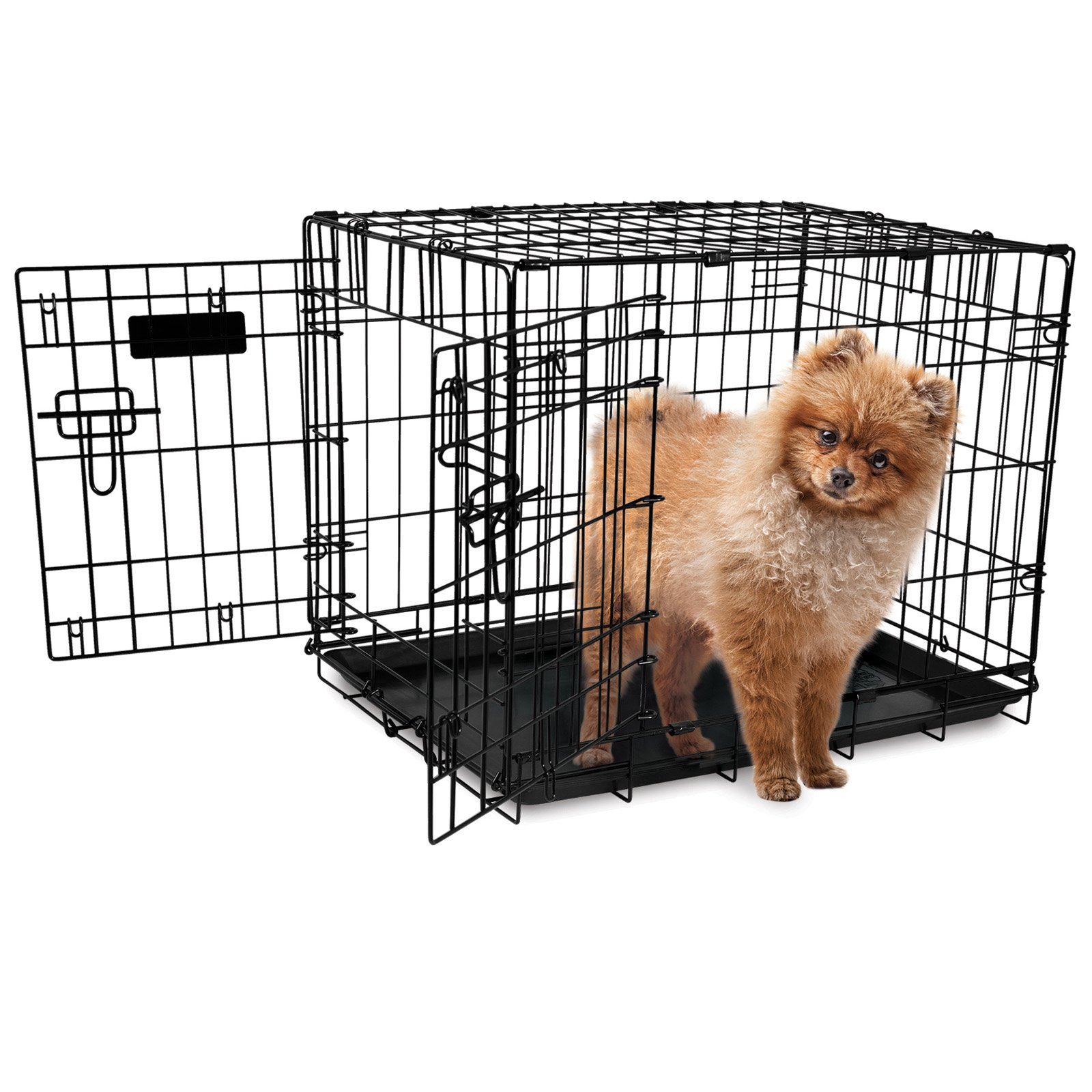 Precision Pet Products ProValu Double Door Dog Crate with Free Fleece Crate Mat