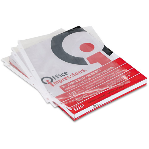 Office Impressions Top-Loading Sheet Protectors, Box of 100