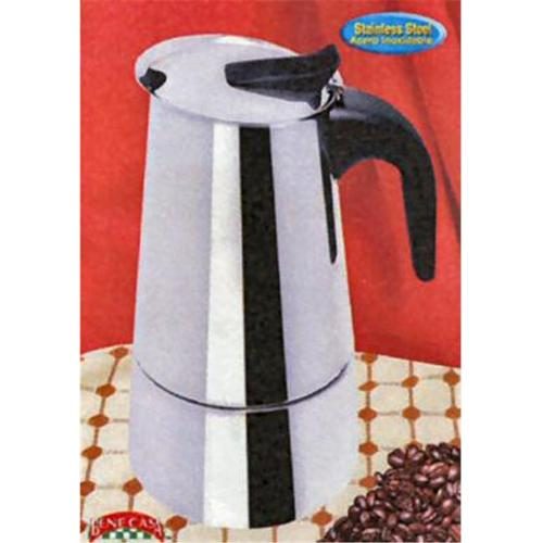 BC Classics BC-40609 6-Cup Espresso Maker with Black Handle by MBR Industries, Inc