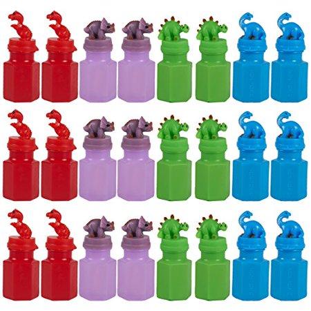 24 Pack Party Favors for Kids - Dinosaur Party Supplies - Play Bubbles - Bubble Wand Party Supplies for Kids Parties, Celebrations, Birthdays, 4 Colors, 17.4ml (0.6oz), 1.25 x 3 x 1.25 Inches - image 1 de 1
