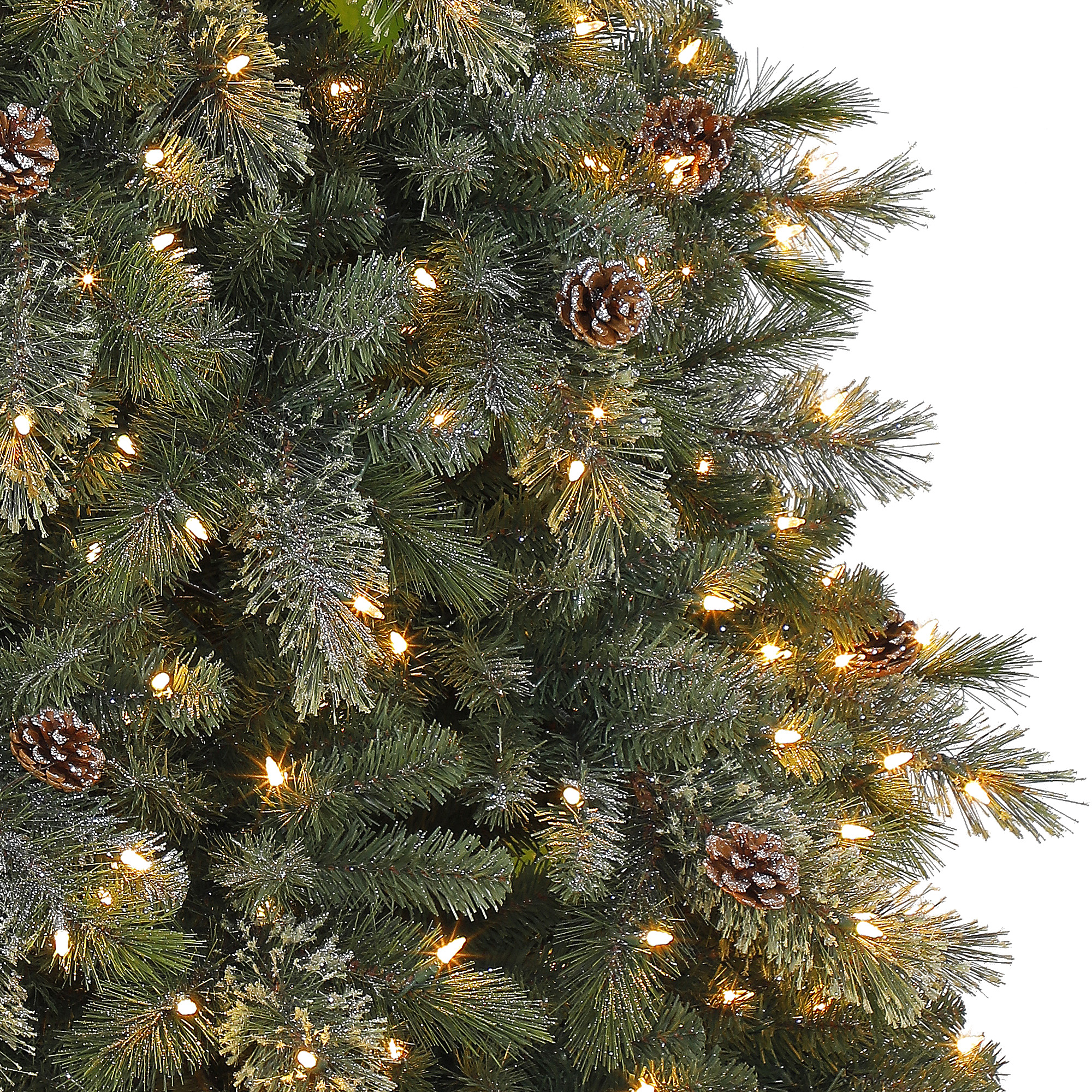 on sale 4afa1 5ef3d Holiday Time 7.5ft Pre-Lit Carson Pine Artificial Christmas ...