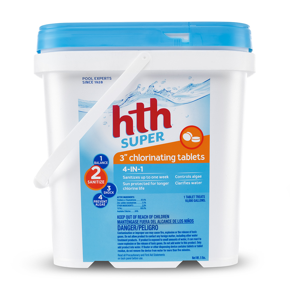 """... hth Super 3"""" Chlorinating Tablets, 5 lbs"""