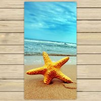 ZKGK Beach Theme Hand Towel Bath Towels Beach Towel For Home Outdoor Travel Use Size 30x56 Inches