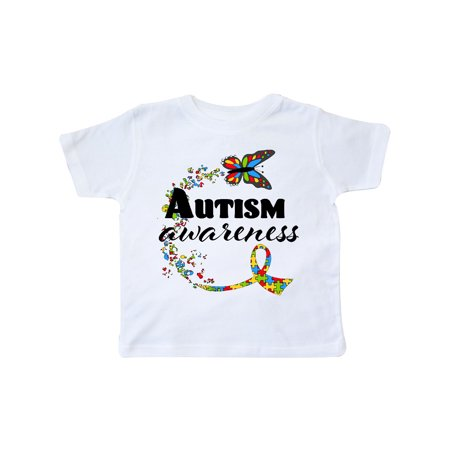 Autism Awareness Butterfly Ribbon Toddler T-Shirt