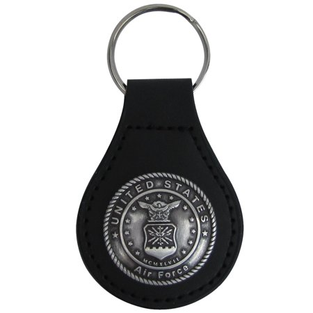 Leather Keychain Ring - US Air Force Seal Leather Car Keyfob Truck Key Ring Chain Fob Keyring USAF Gift