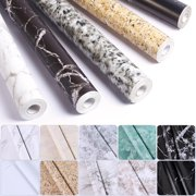 UKAP 10M Roll Marble Wallpaper Peel and Stick Wallpaper Grey White Marble Wallpaper Self Adhesive Waterproof Wallpaper Easily Removable for Furniture Cabinets Countertop Kitchen