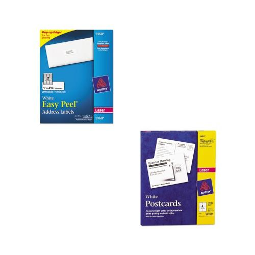 Shoplet Best Value Kit - Avery Postcards for Laser Printers (AVE5689) and Ave...