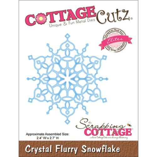"CottageCutz Elites Die -Crystal Flurry Snowflake 2.4""X2.7"""