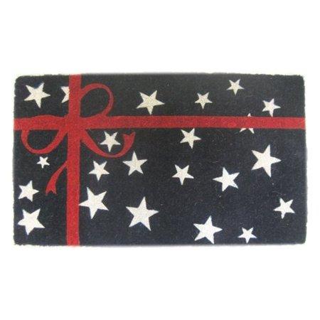 Imports Decor Woven Patriotic Present Doormat