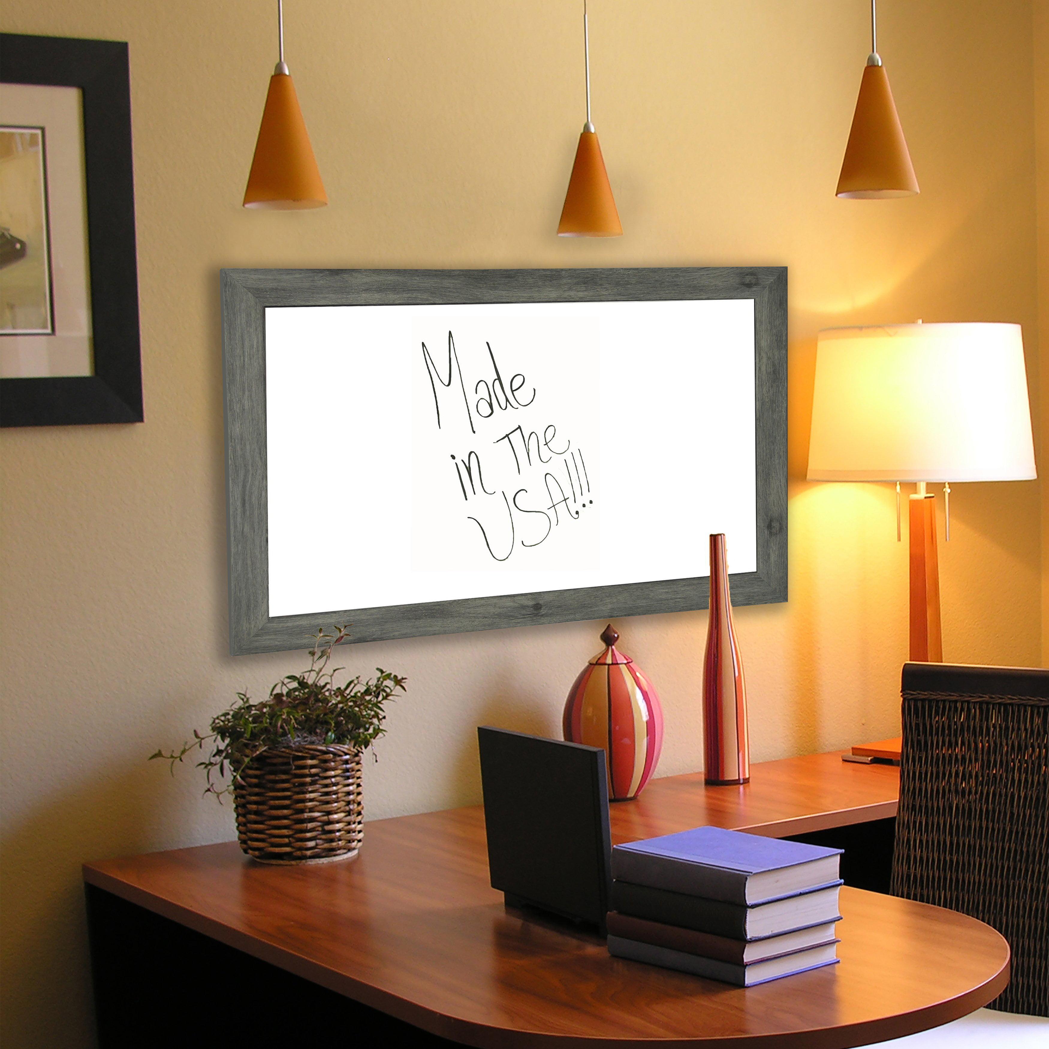 Rayne Mirrors American Made Rayne Grey Dry Erase Board