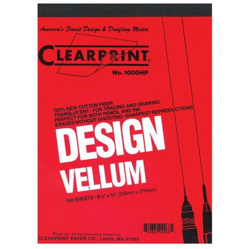 ClearPrint 1000H Series Unprinted Vellum Sheet (Set of 10)