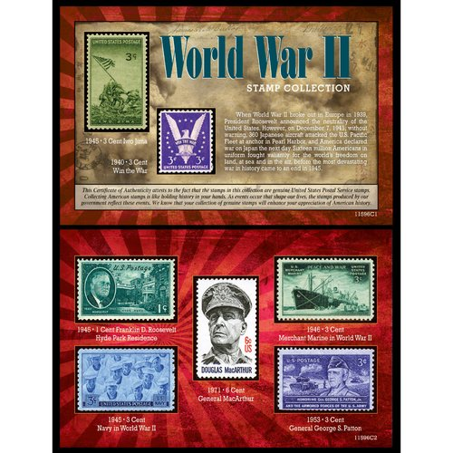 American Coin Treasures World War II Stamp Memorabilia