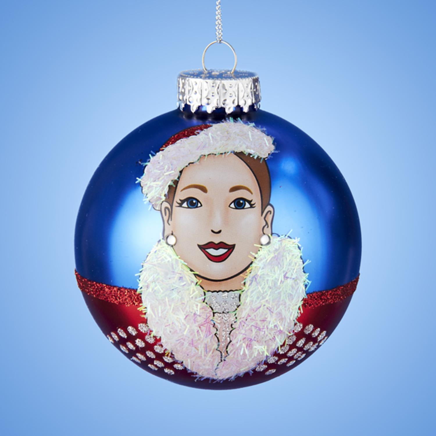 "3.25"" Radio City Christmas Spectacular Starring The Rockettes Glass Christmas Ball Ornament (80mm)"