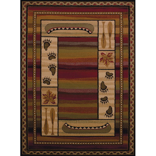 United Weavers Essence Chippewa Lodge Multi Woven Polypropylene Area Rug
