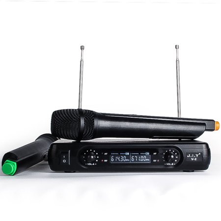 Professional Karaoke Wireless Microphone Mixer Audio Radio Kits Handheld LCD Microphone black U.S (Boston Audio Ba 5808 Professional Karaoke Mixer)