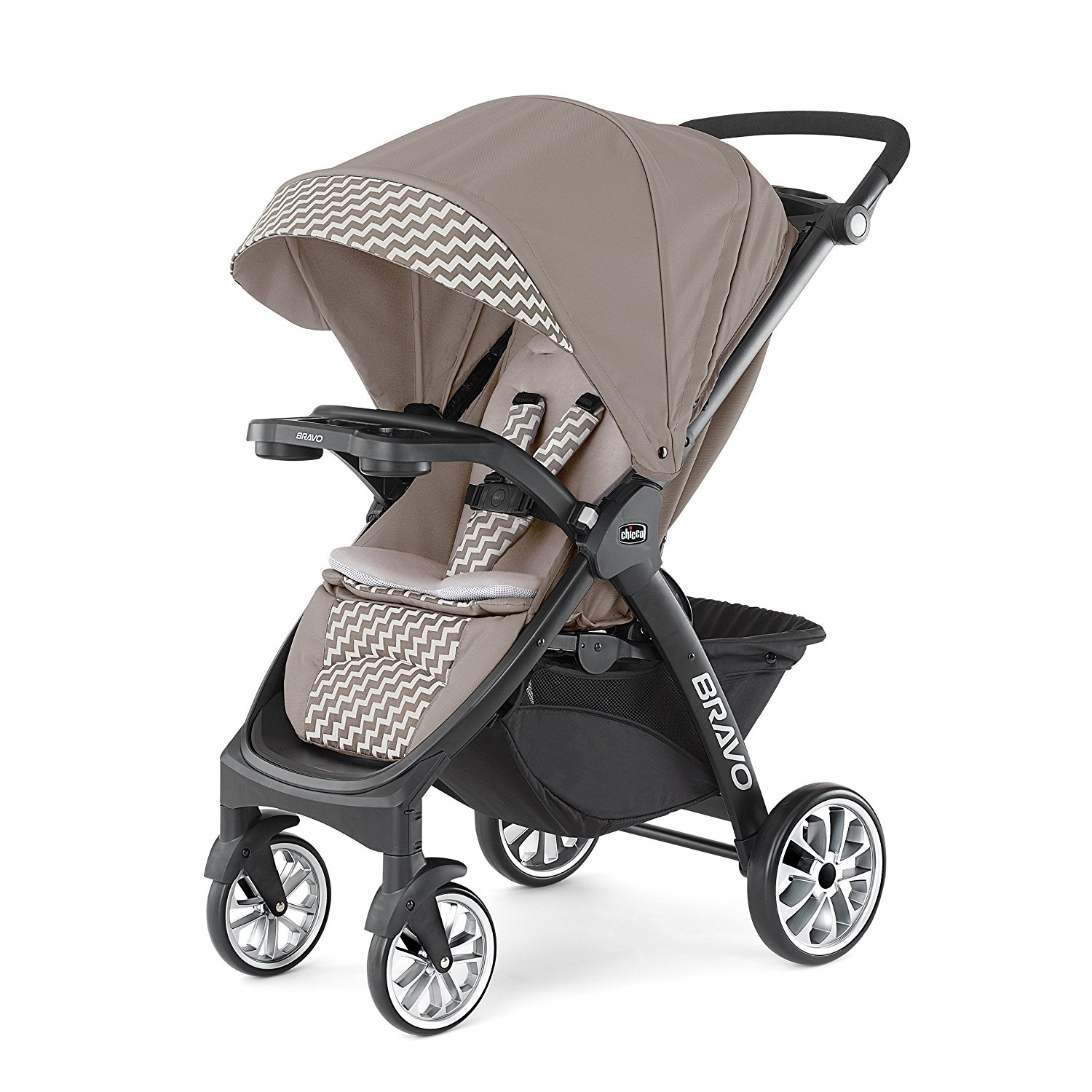 Chicco 3-in-1 Removable Seat Folding Multi-Position Bravo LE Stroller, Singapore