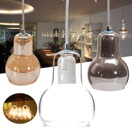 Meigar Vintage Industrial Lighting Shade Pendant Lamp Shade Handblown Glass Drop Ceiling Lights lampshade Clear Glass Shade