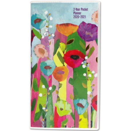 Brilliant Floral 2-Year 2020-2021 Pocket Planner - Walmart.com