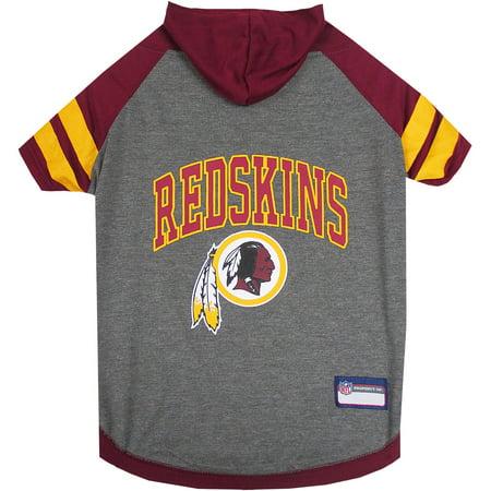 Nfl Pet Set - Pets First NFL Washington Redskins Pet Hoodie Tee Shirt