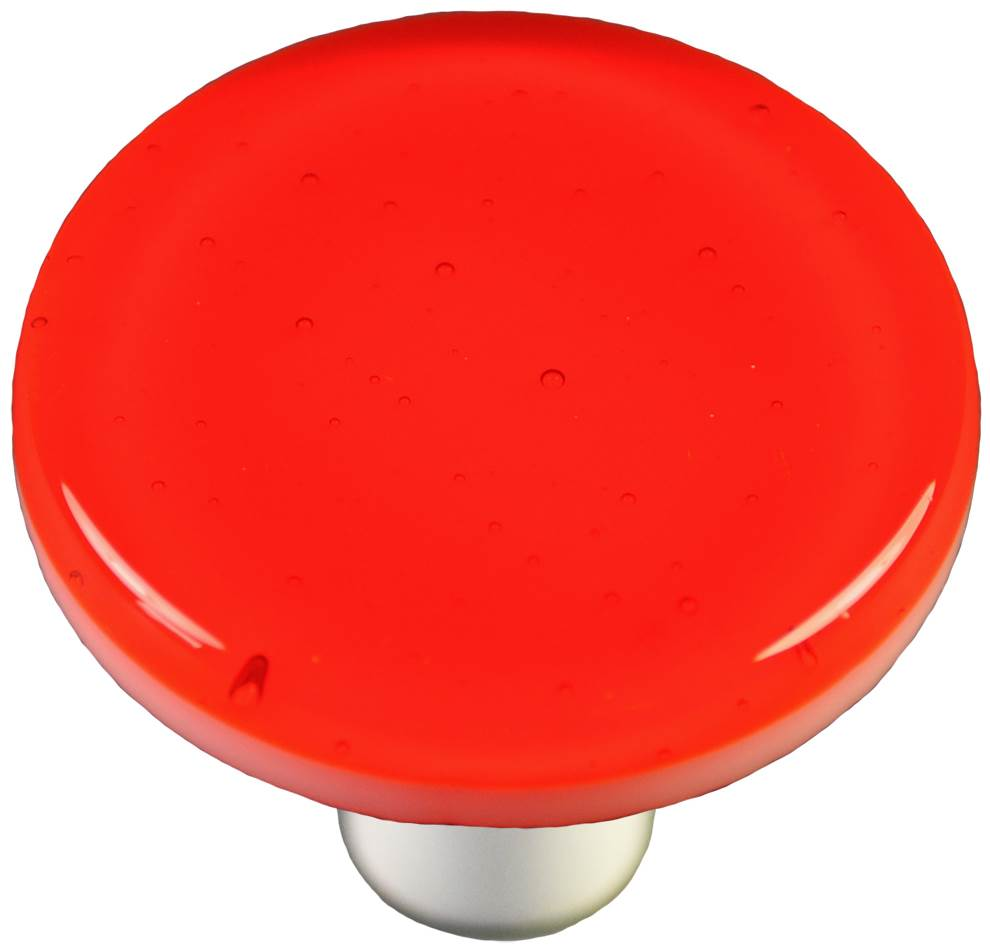 Round Knob in Transparent Orange (Aluminum)